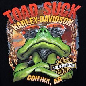 "Harley-Davidson   ""Toad Suck"" Graphic T Shirt sz L"